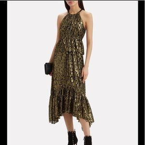 A.L.C. Golden Rosa Leopard Dress 2 4 6 8